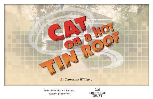 2014-2015 Cat on a Hot Tin Roof production background