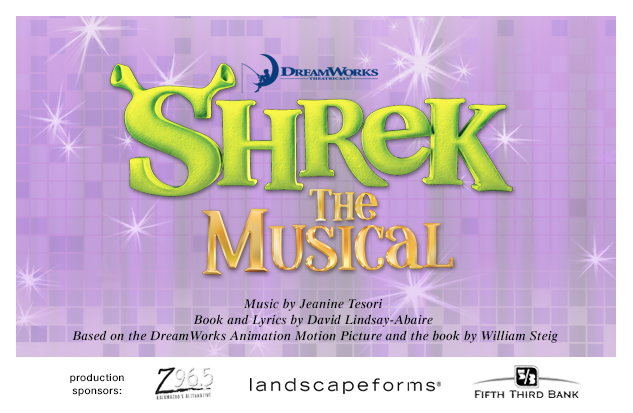 2014-2015 Shrek the Musical production background