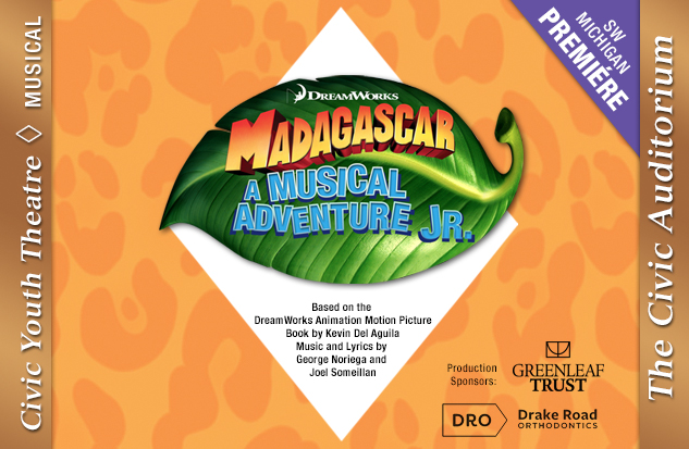 CYT Auditions: <i>Madagascar – A Musical Adventure JR.</i>  - SUNDAY, DECEMBER 16, 2018 4:00PM