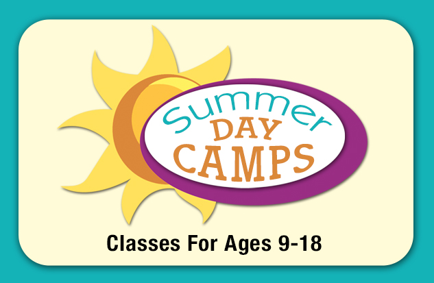<center> 2018 SUMMER DAY CAMPS (Ages 9 - 18)